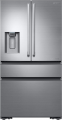 Samsung - Chef Collection 22.6 Cu. Ft. 4-Door Flex French Door Counter-Depth Refrigerator - Fingerprint Resistant Stainless steel