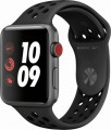 Apple - Apple Watch Nike+ Series 3 (GPS + Cellular), 42mm Space Gray Aluminum Case with Anthracite/Black Nike Sport Band - Space Gray Aluminum-6090701