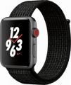 Apple - Apple Watch Nike+ Series 3 (GPS + Cellular), 42mm Space Gray Aluminum Case with Black/Pure Platinum Nike Sport Loop - Space Gray Aluminum-6090704