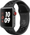 Apple - Geek Squad Certified Refurbished Apple Watch Nike+ Series 3 (GPS + Cellular), 38mm with Anthracite Sport Band - Space Gray Aluminum