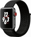 Apple - Apple Watch Nike+ Series 3 (GPS + Cellular), 38mm Space Gray Aluminum Case with Black/Pure Platinum Nike Sport Loop - Space Gray Aluminum
