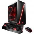 iBUYPOWER - Desktop - Intel Core i7 - 16GB Memory - NVIDIA GeForce GTX 1060 - 120GB Solid State Drive + 2TB Hard Drive - Black/red