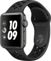 Apple - Apple Watch Nike+ Series 3 (GPS), 38mm Space Gray Aluminum Case with Anthracite/Black Nike Sport Band - Space Gray Aluminum-5706663