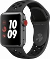 Apple - Apple Watch Nike+ Series 3 (GPS + Cellular), 38mm Space Gray Aluminum Case with Anthracite/Black Nike Sport Band - Space Gray Aluminum